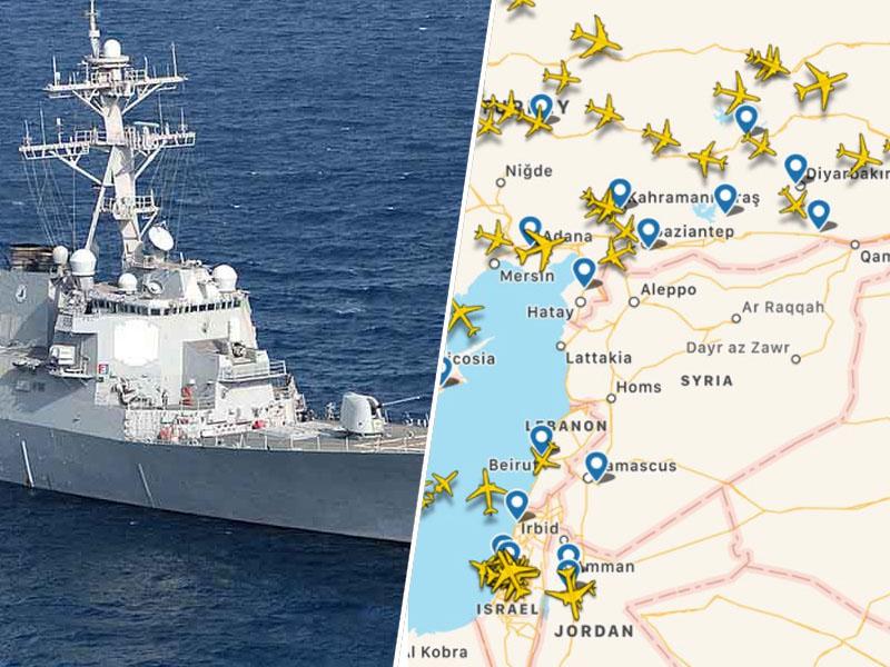 Ladja USS Donald Cook in zračni napad na Sirijo