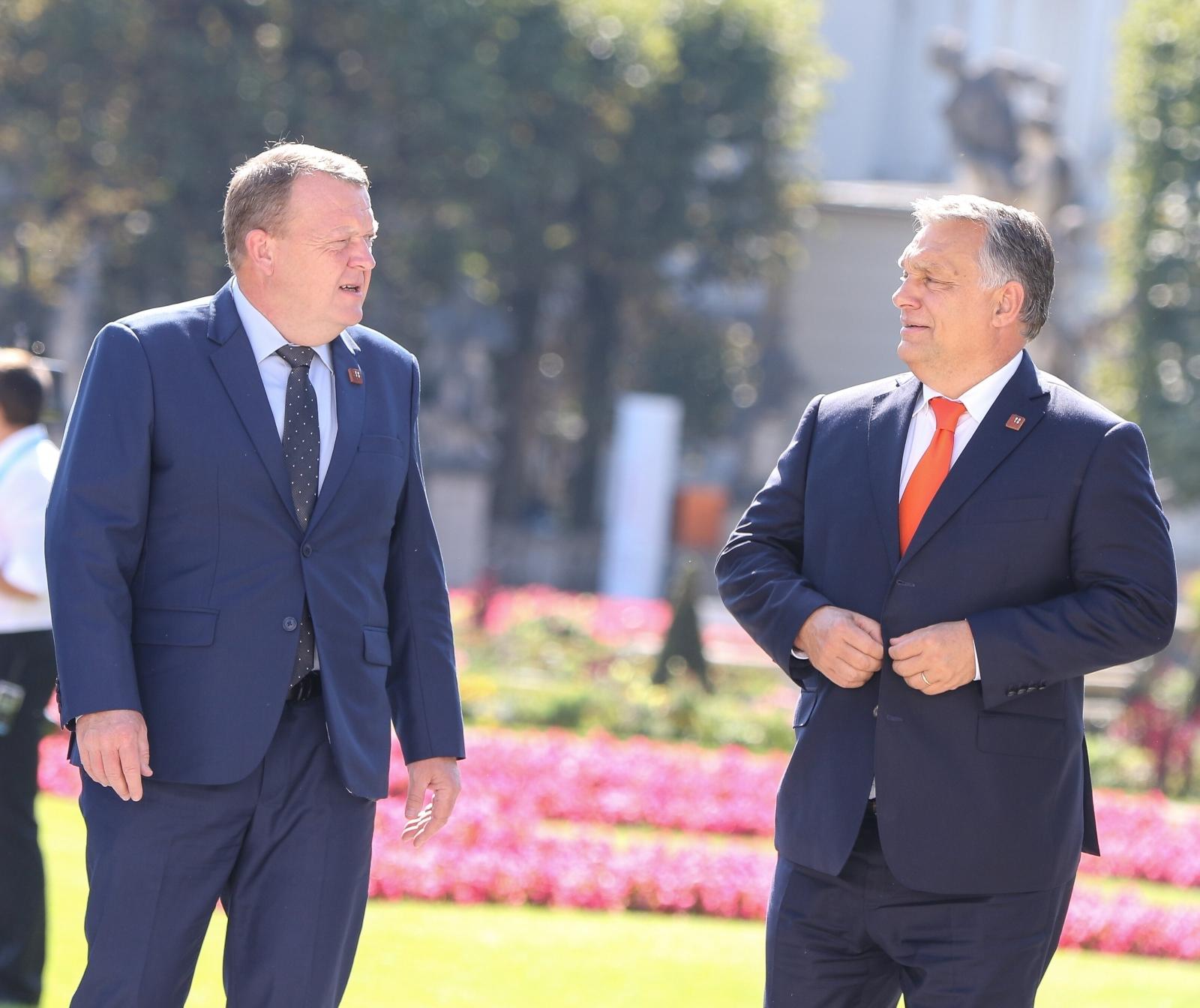 Danski predsednik vlade Lars Løkke Rasmussen in madžarski PV Viktor Orban Vir:Pixell