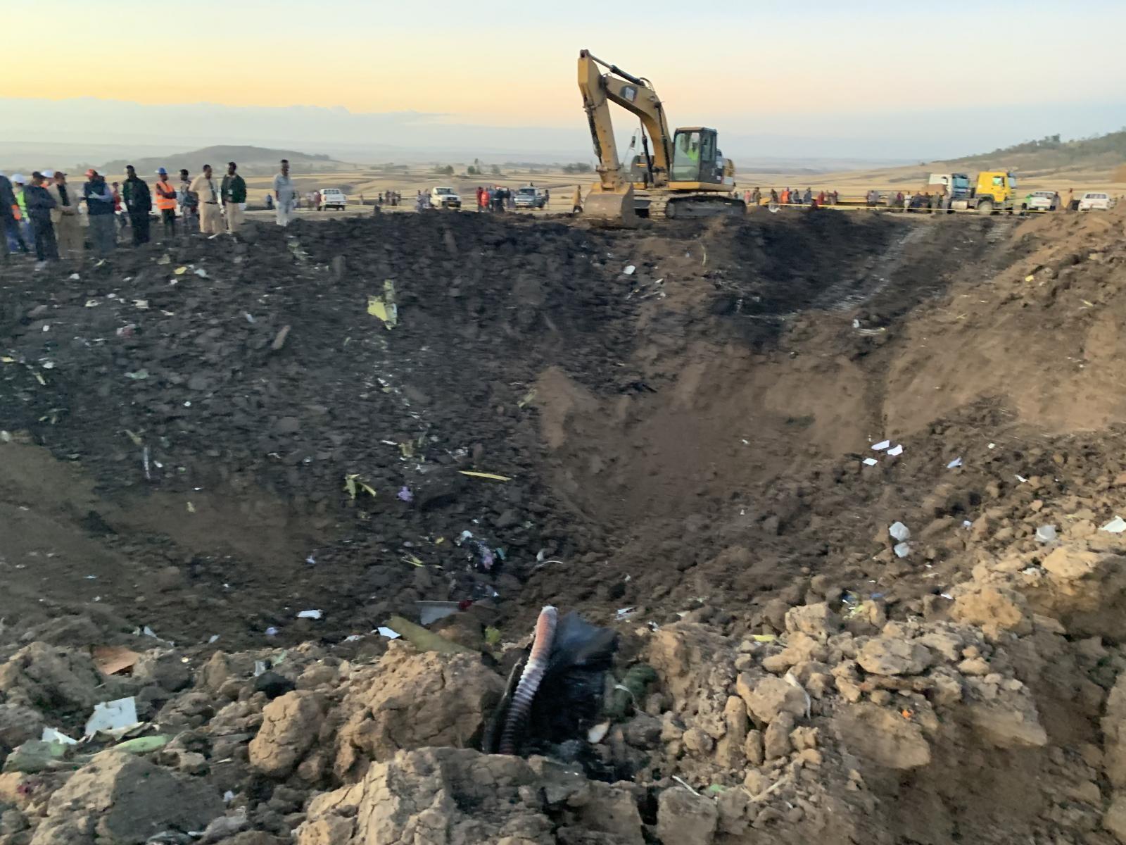 Kraj nesreče etiopskega boeinga 737 Vir:Pixsell