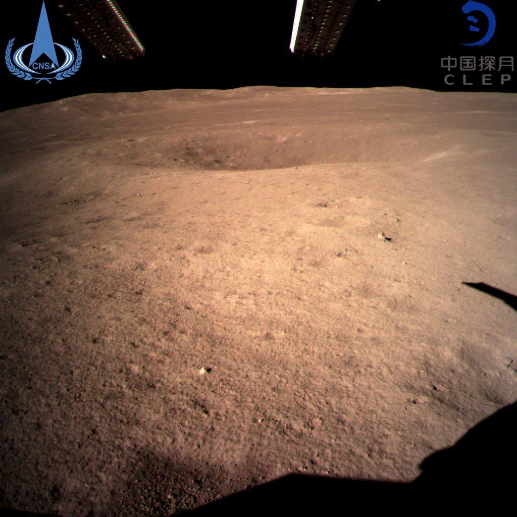 Pristanek na Luni - kitajsko vozilo Vir:CNSA