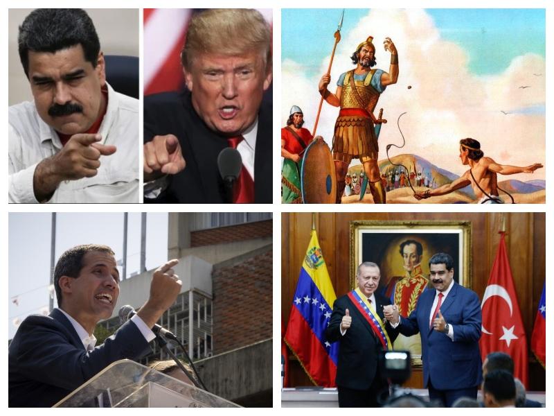Maduro, Erdogan, Guaido in David ter Goljat