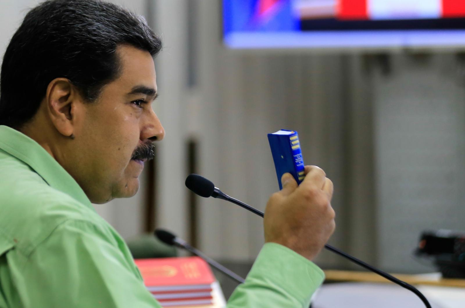 Nicolas Maduro in ustava Vir:Pixsell