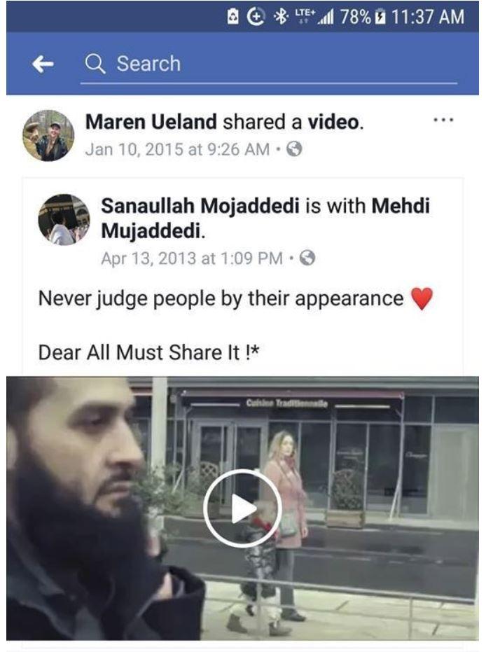 Posnetek, ki ga je delila ubita Norvežanka