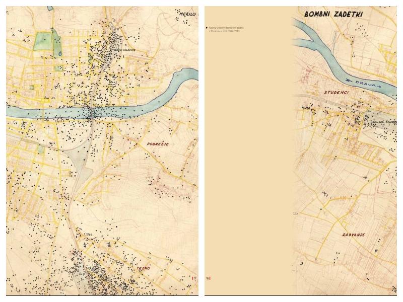 Maribor - karte bombardiranja