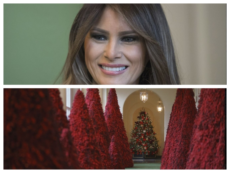 Rdeča božična drevesca-Melania Trump