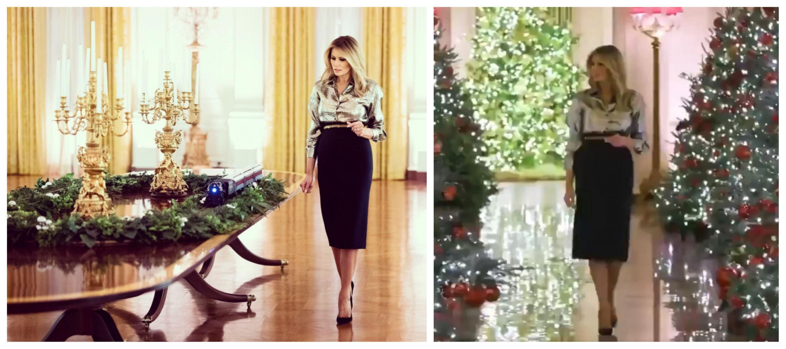 Melania je v enem od pogovorov svoji svetovalki zaupala, da sovraži okraševati Belo hišo za Božič. Vir: Twitter