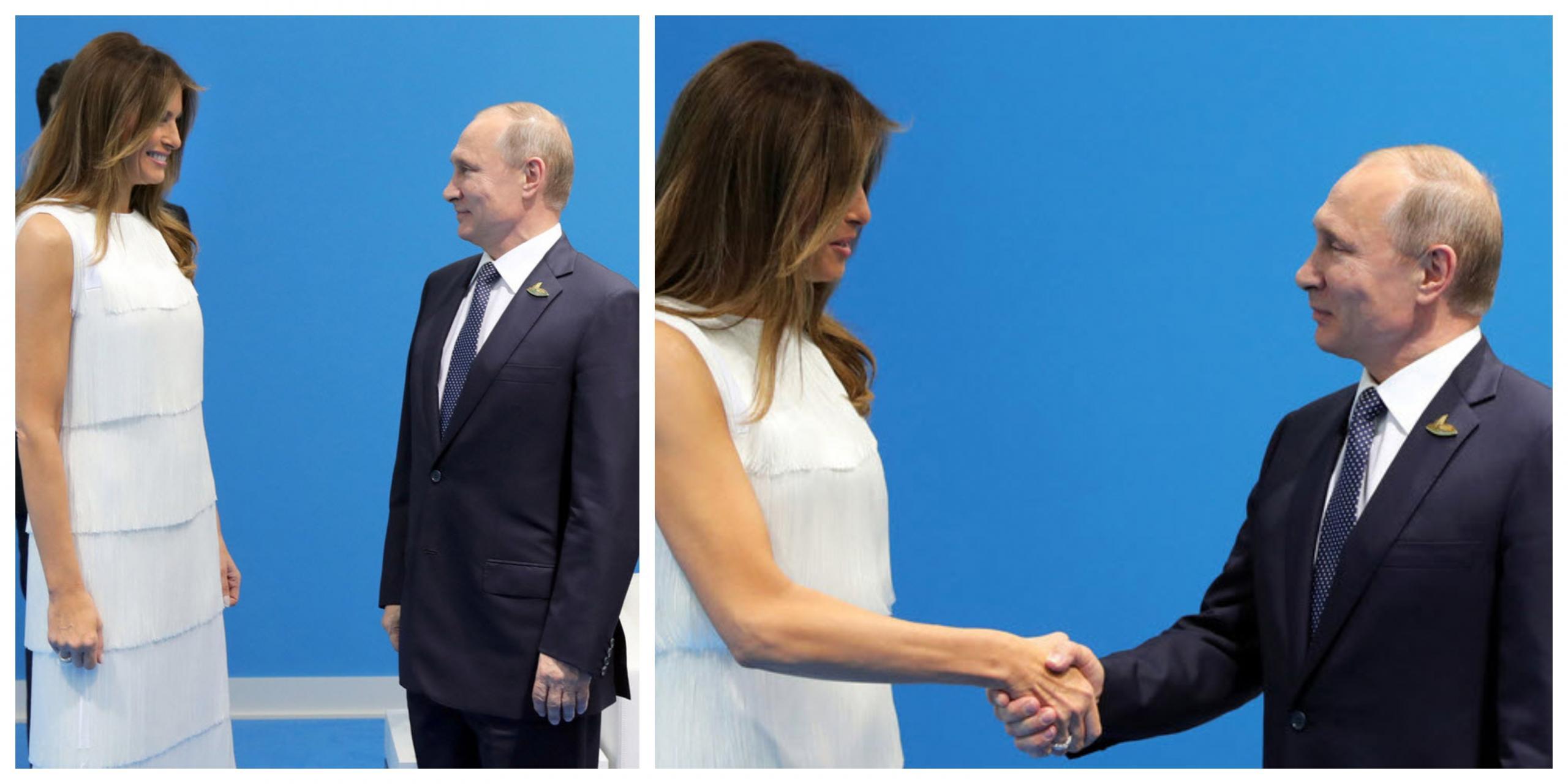 Prva dama ZDA in predsednik Rusije Vir: Pixsell