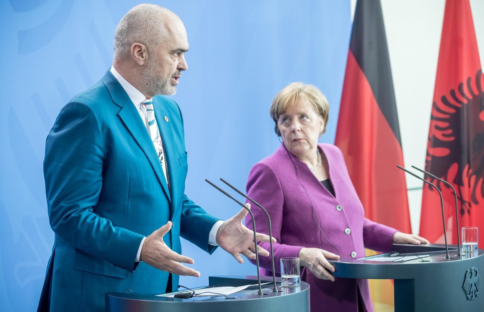 Edi Rama in Angela Merkel