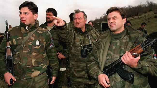 Ratko Mladić in soborci