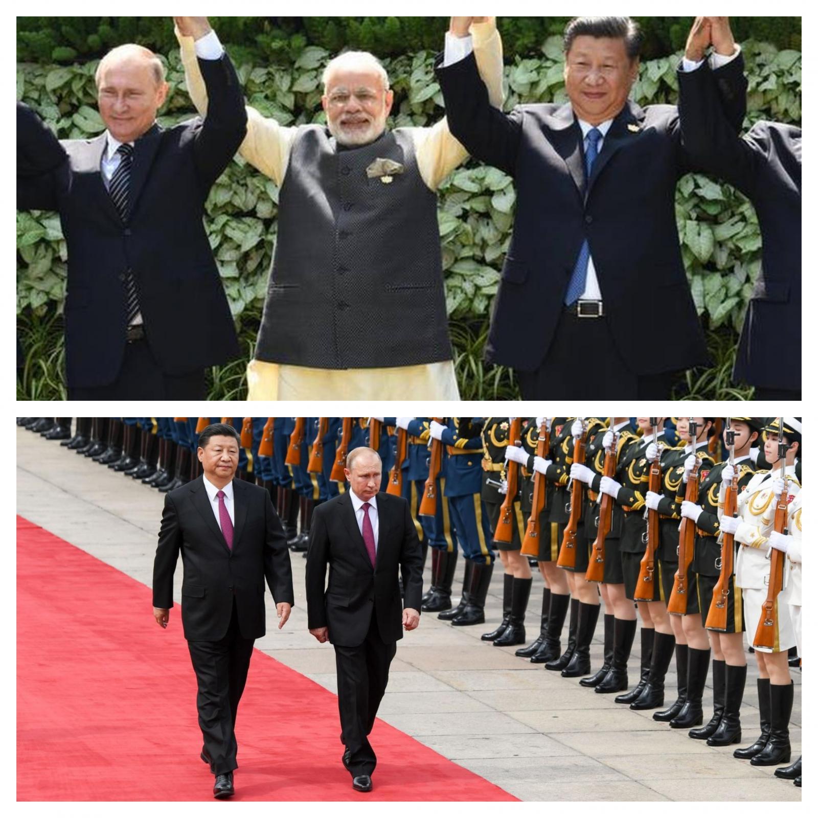 Putin, Modi in Xi