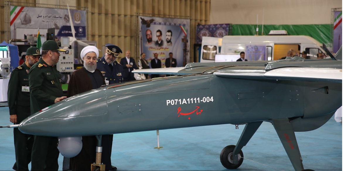 Iransko brezpilotno letalo Mohajer-6 Vir:IRIB