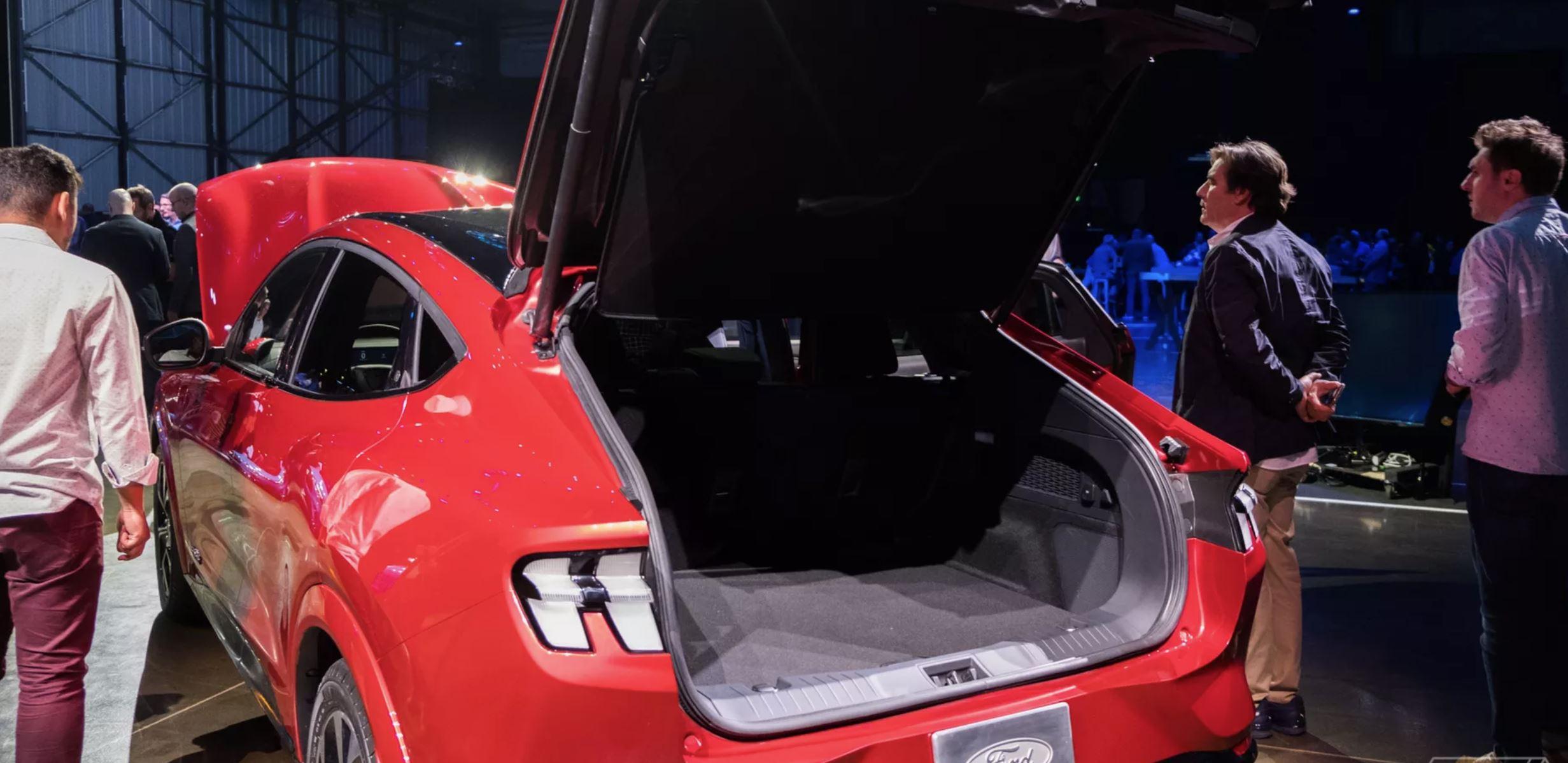 Mustang Mach E, prtljažnik