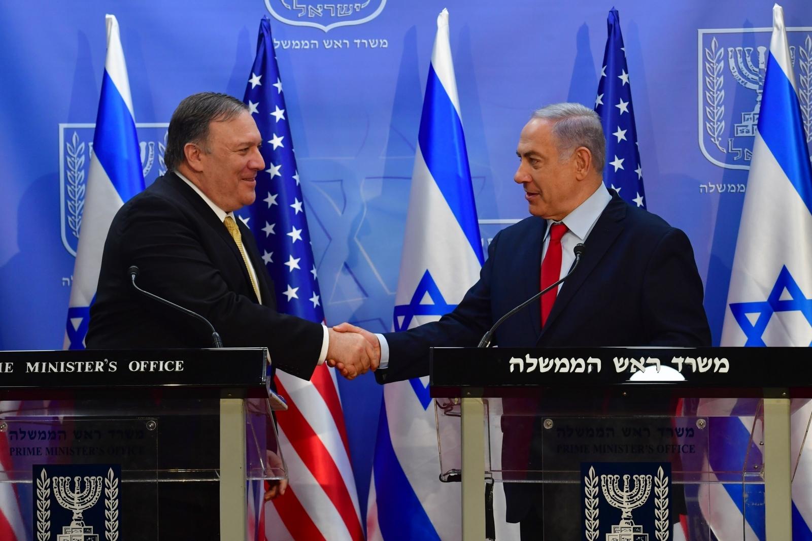 Netanjahu in Pompeo Vir:Pixsell