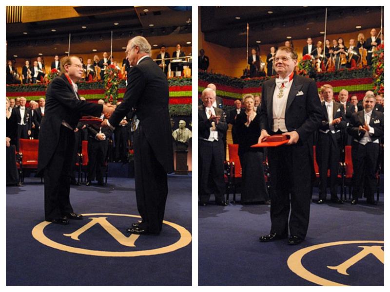Luc Montaigner med prejemom Nobelove nagrade leta 2008