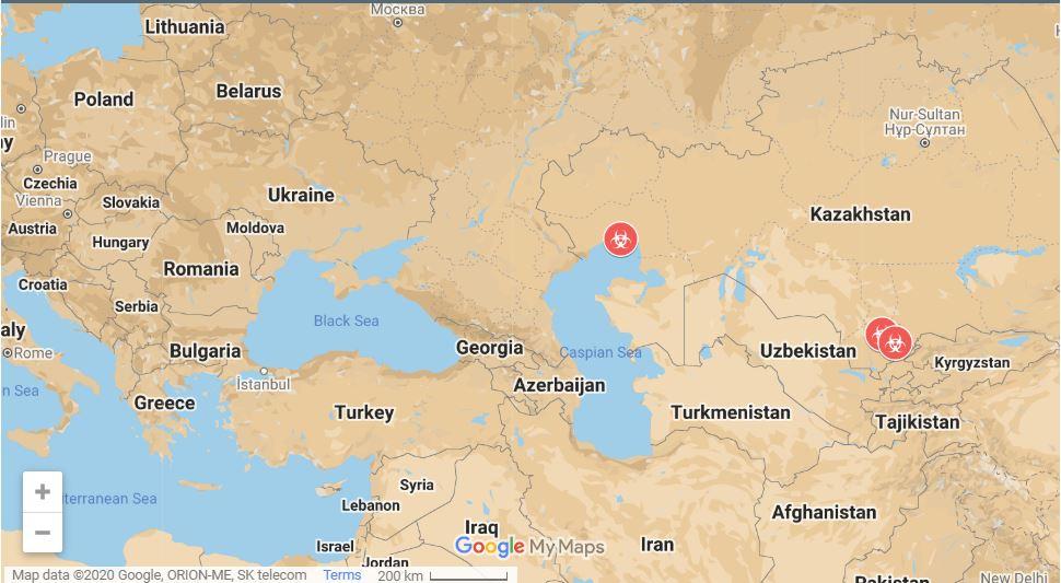 Kazahstan - tu razsaja nova pljučnica