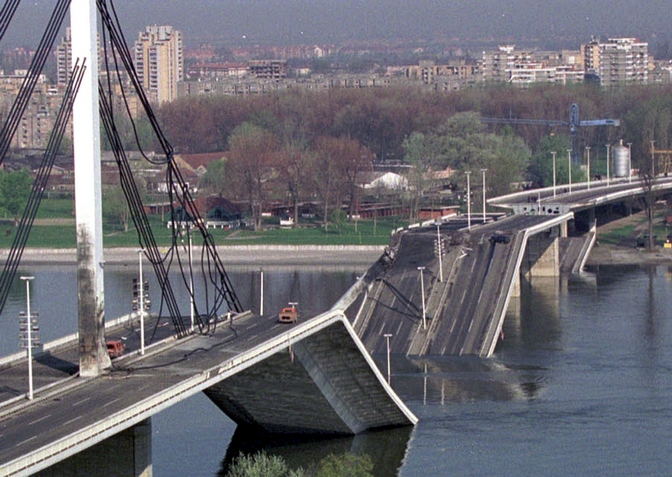 Most svobode, Novi sad, 1999