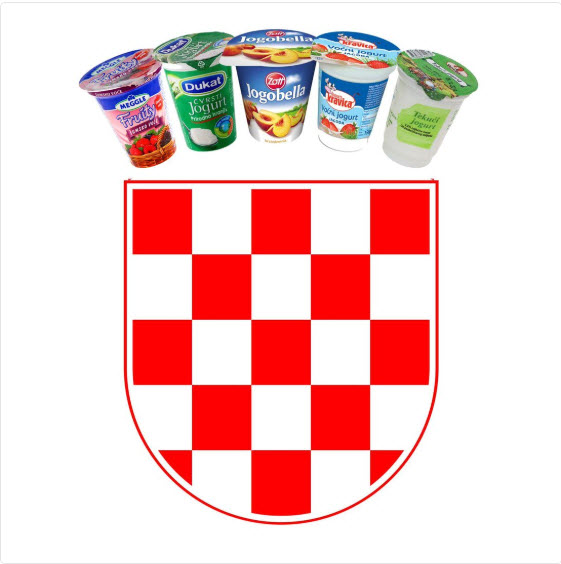 Novi hrvaški jogurtni grb