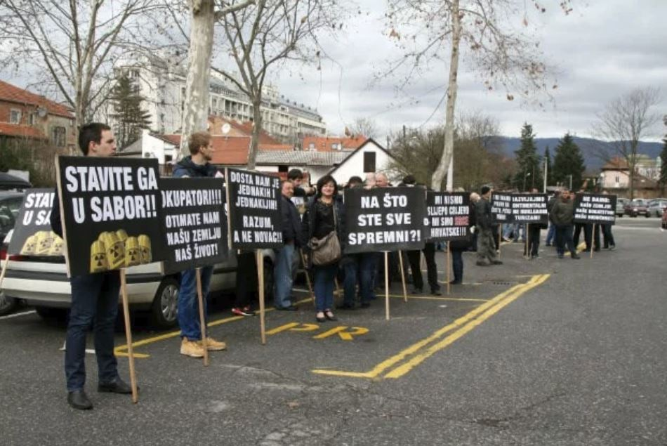 Protesti proti jedrskim odpadkom, Hrvaška Vir:index.hr