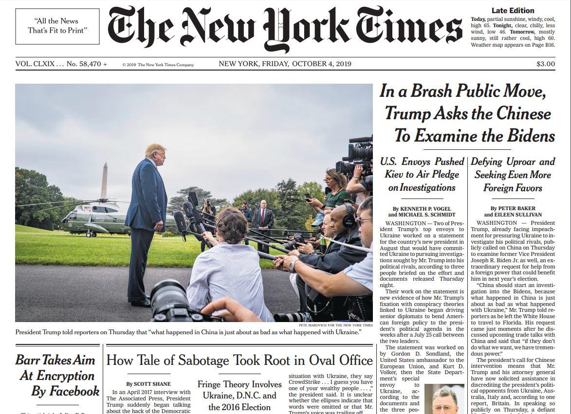 NYT - Trump in Biden