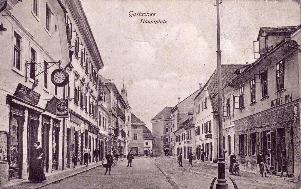 Nemška razglednica iz Kočevja