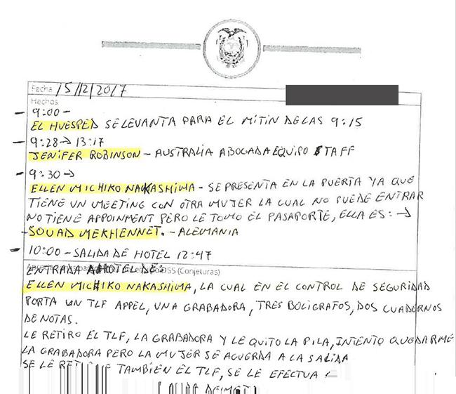 Seznam obiskov - Assange
