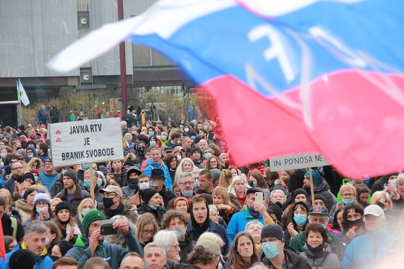 Protesti v Ljubljani, 27.04.2021