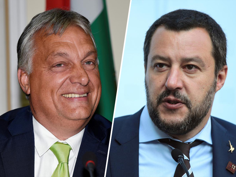 Viktor Orban in Matteo Salvini