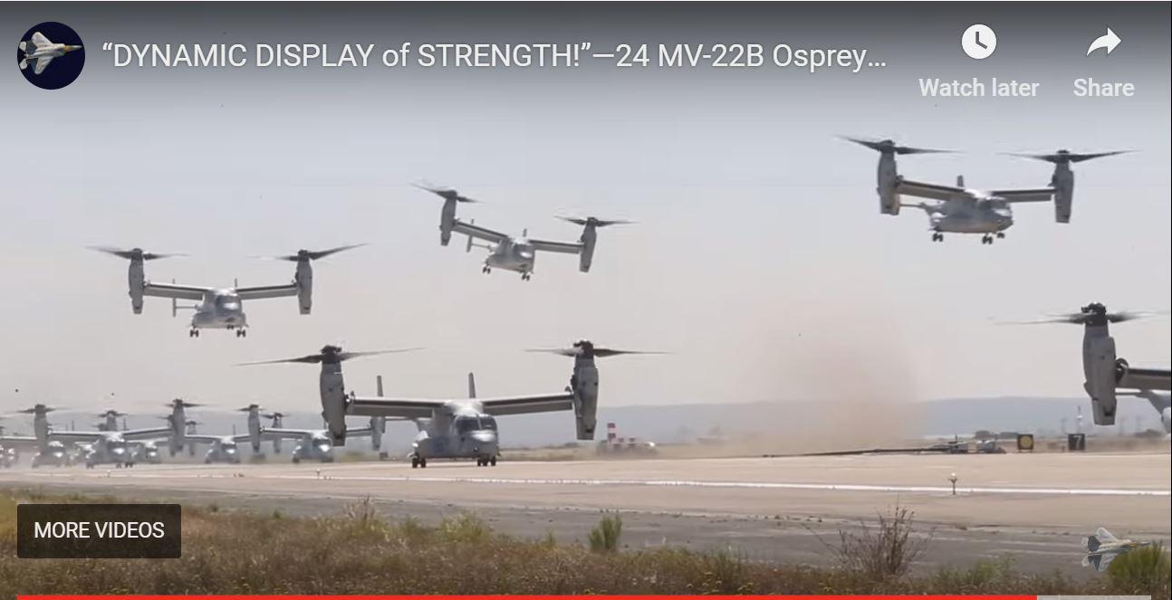 Helikopterji Osprey Vir:YouTube