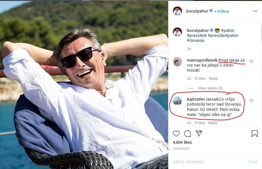 Borut Pahor - medijski nastopi