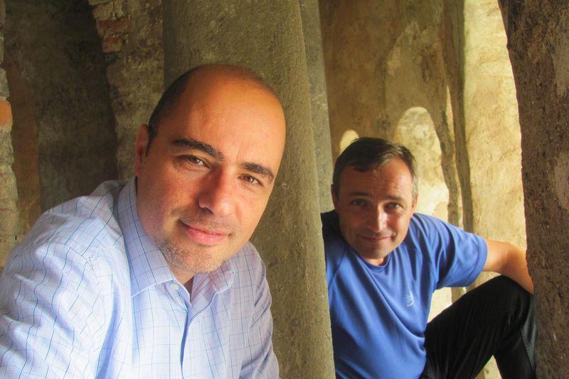 Duhovnik Pietro Biaggi in Branko Cestnik