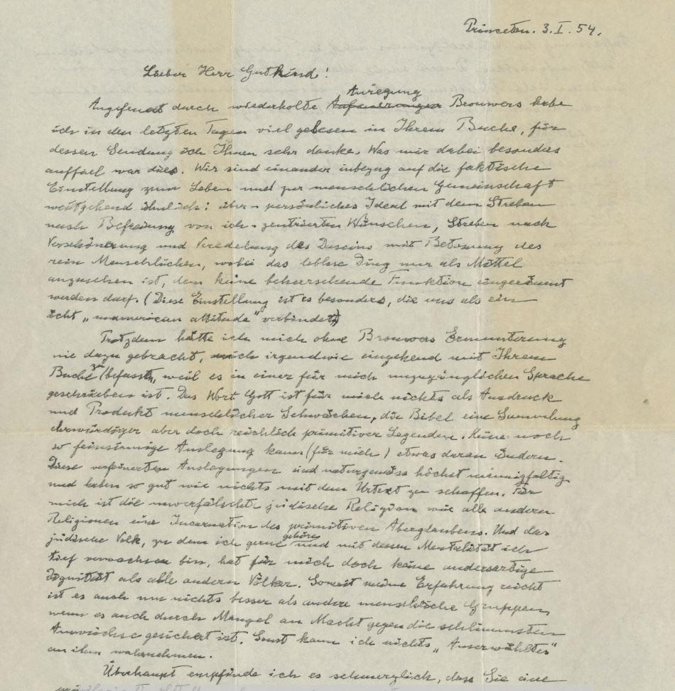 Pismo - Albert Einstein