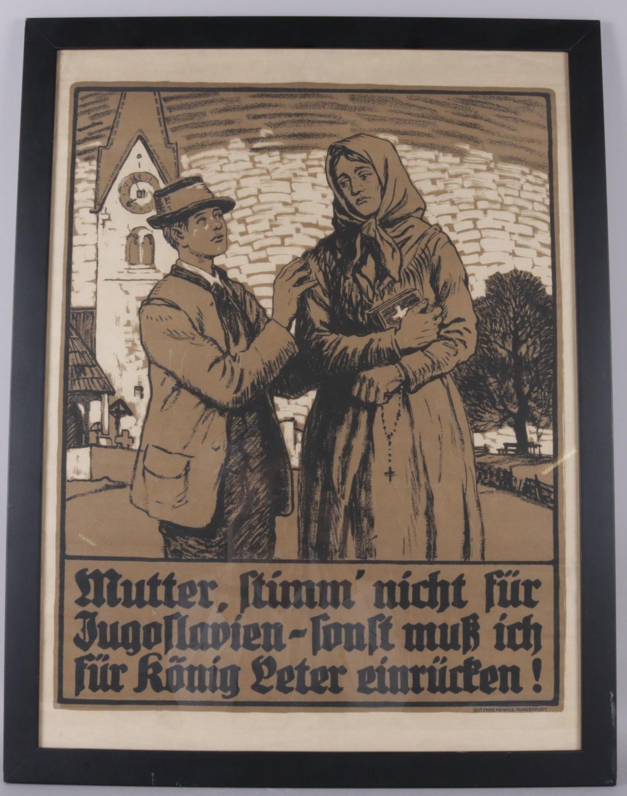Plakat, Koroška, 1920