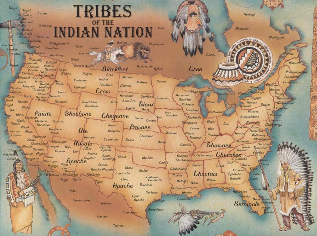 Plemena v ZDA Vir: http://community.dewereldmorgen.be/