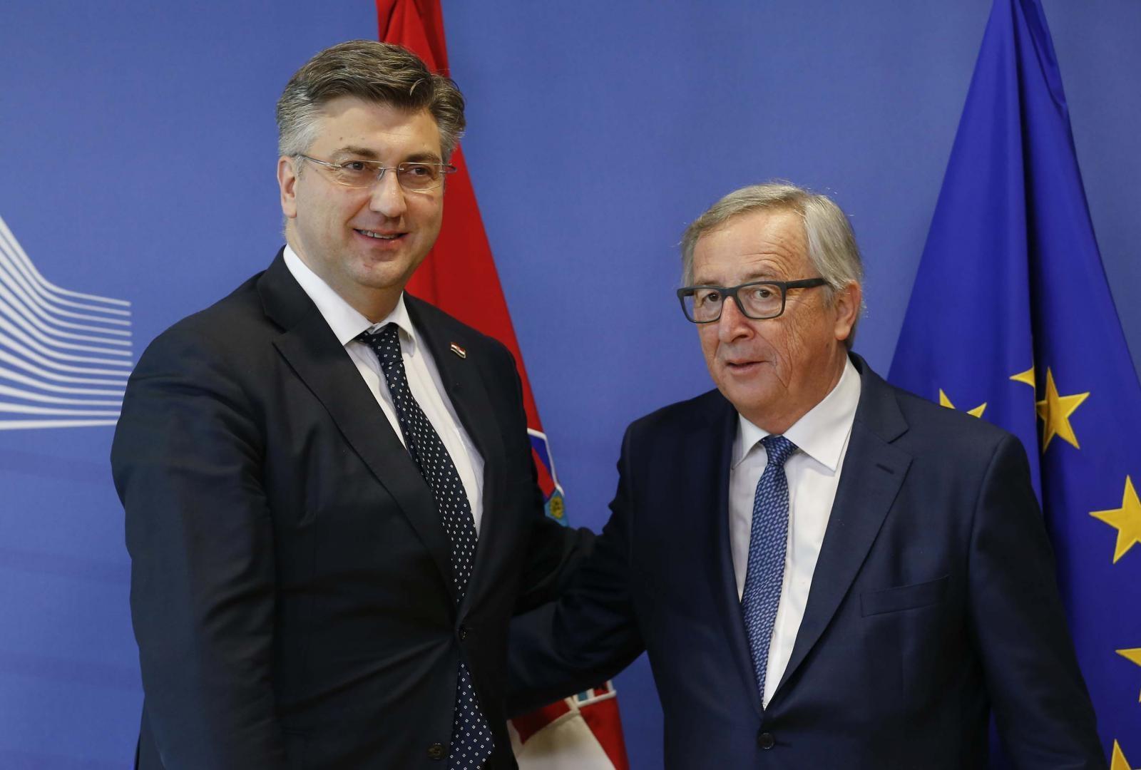 Andrej Plenković in Jean Claude Juncker Vir:Pixell