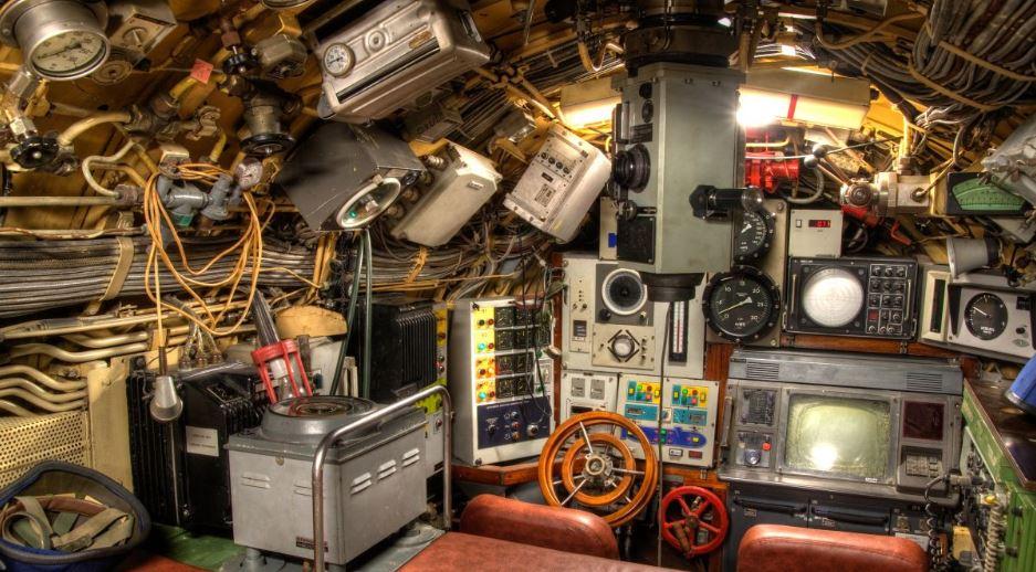 Notranjost podmornice Zeta Vir:Muzej vojaške zgodovine Pivka