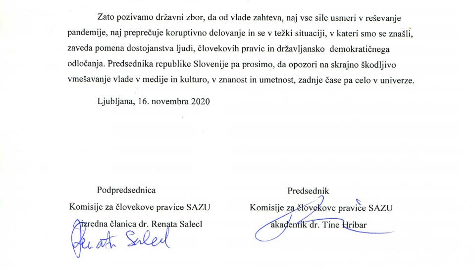 Podpisa - izjava SAZU