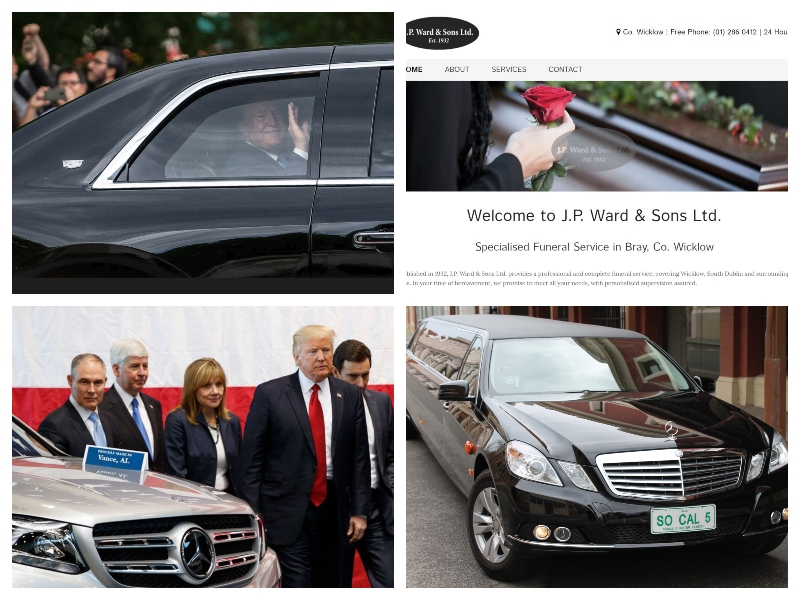 Trump - pogrebni avtomobili in Mercedes Benz