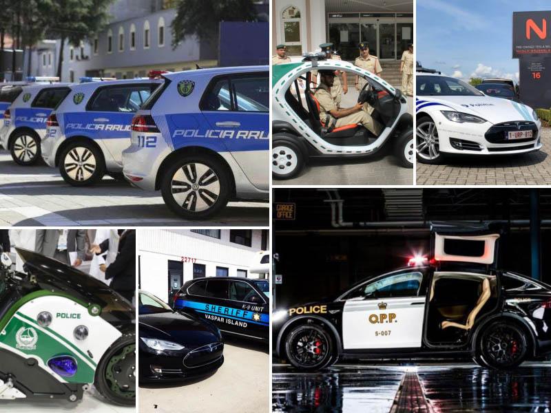 Policija, električni avtomobili