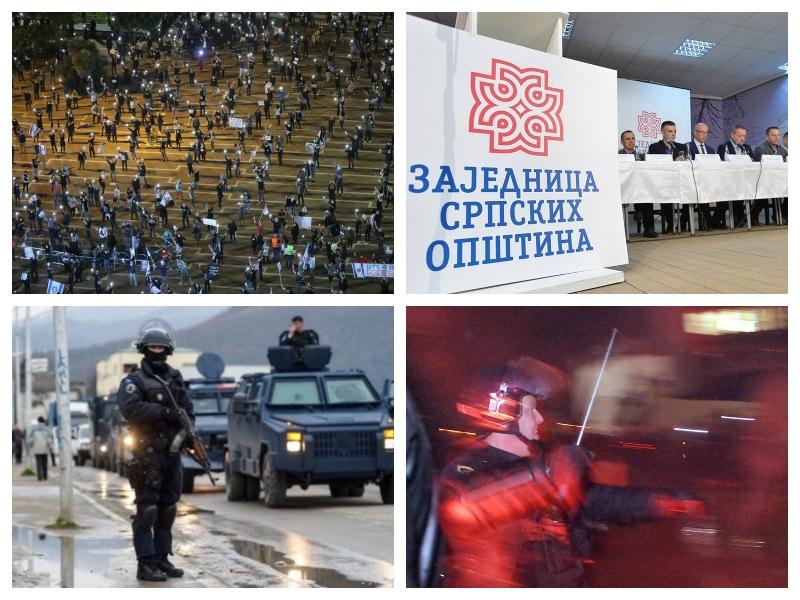 Policija, demonstracije in uporaba pendrekov - Izrael, Kosovo, Slovenija