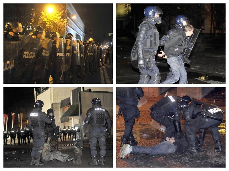 Policija, demonstracije 2012