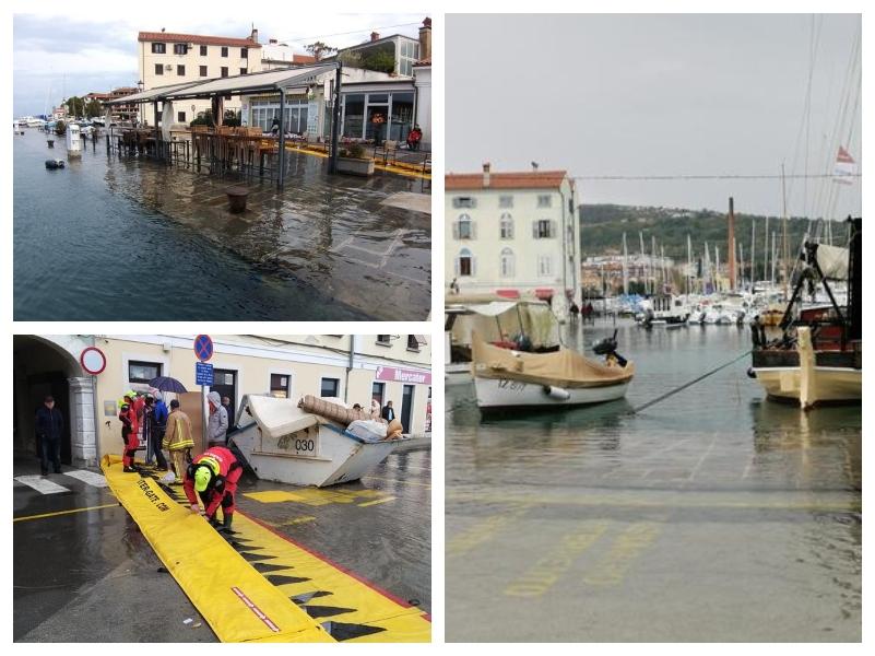 Poplave na obali v Sloveniji