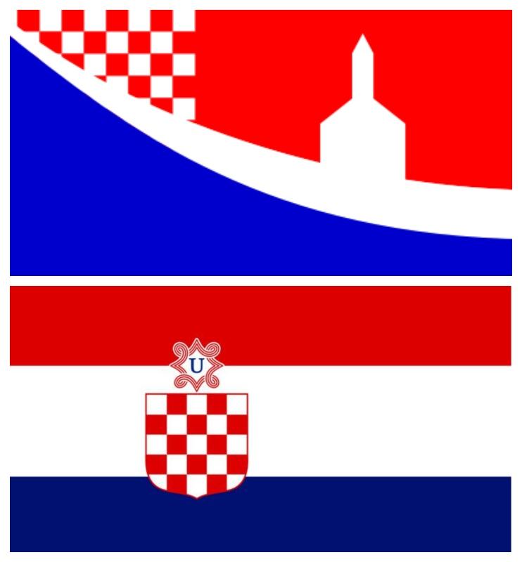 Zastava Posušja in zastava NDH