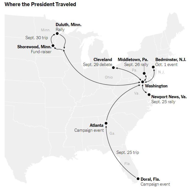 Potovanja predsednika ZDA