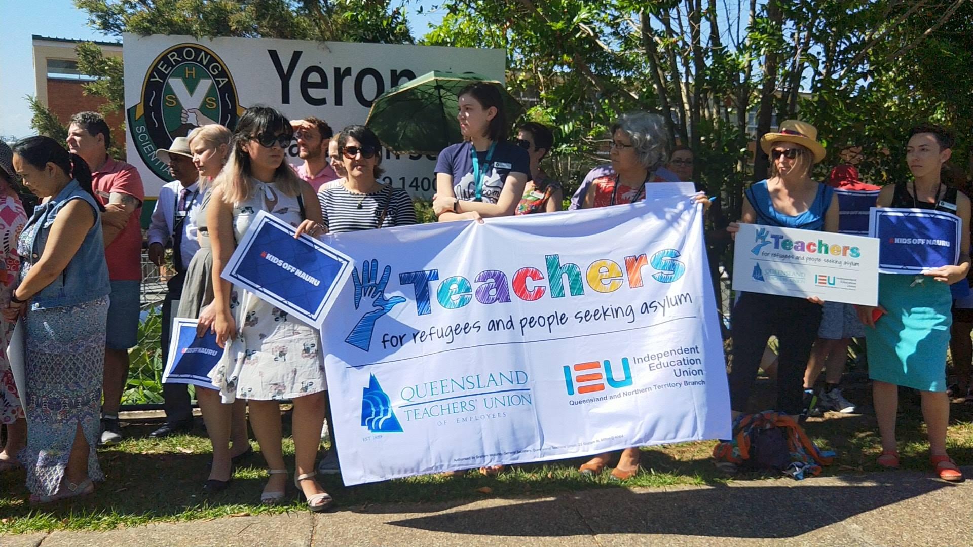 Protest avstralskih učiteljev Vir: Facebook