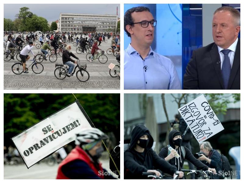 Protesti zaradi zaščitne opreme - Ljubljana