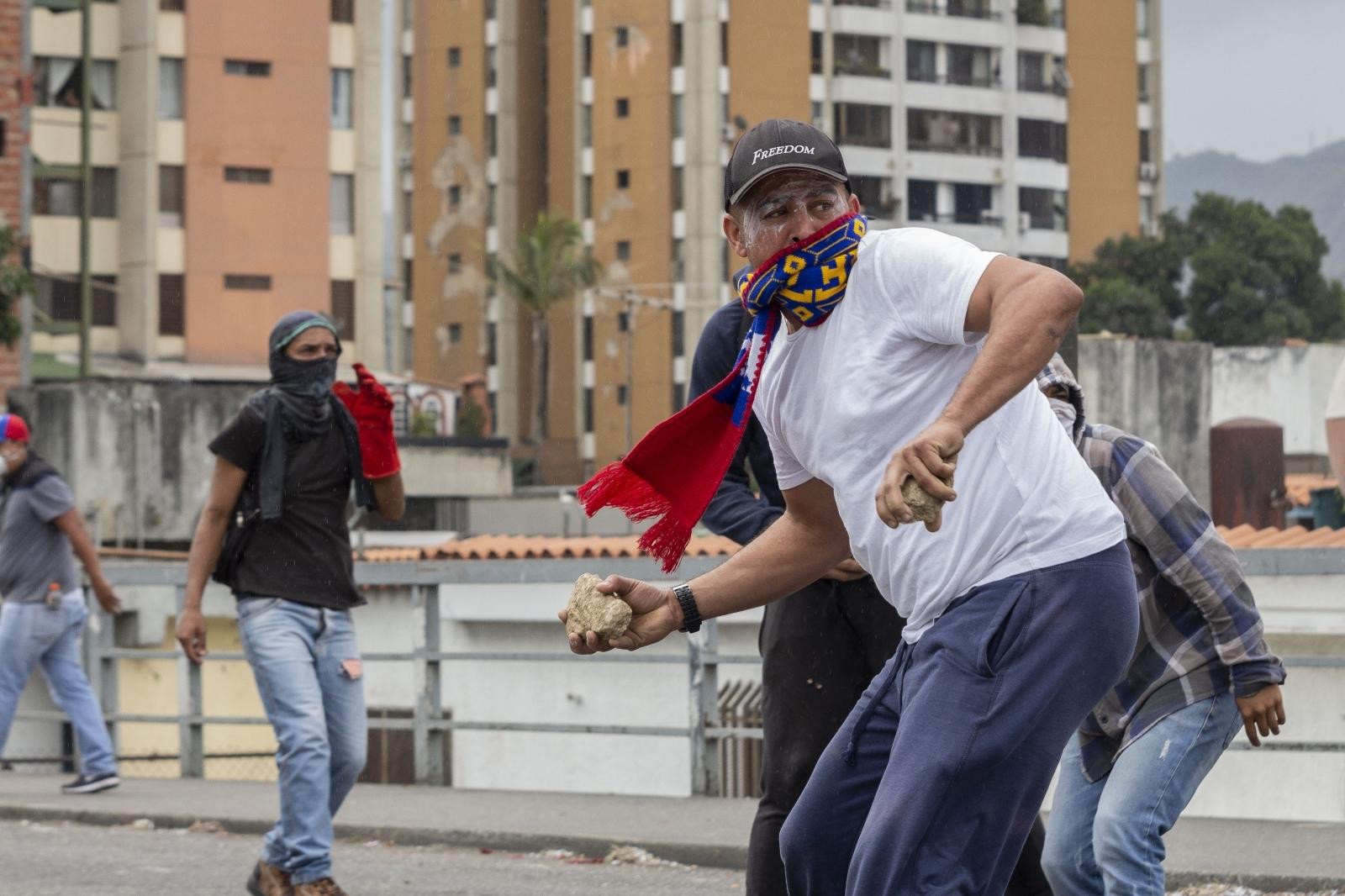 Protestnik v venezueli Vir:Pixsell