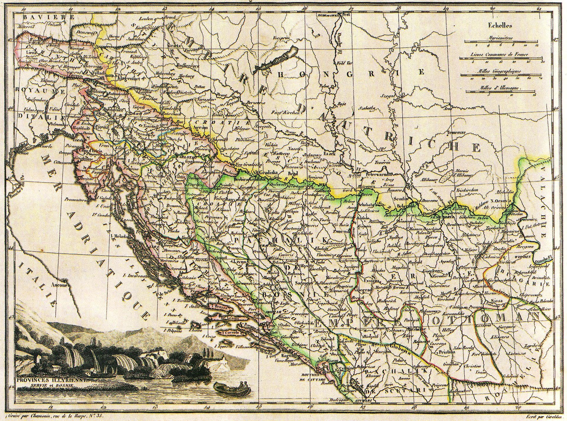 Zemljevid Ilirskih provinc
