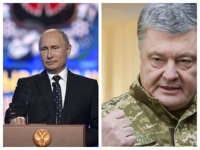 Putin in Porošenko