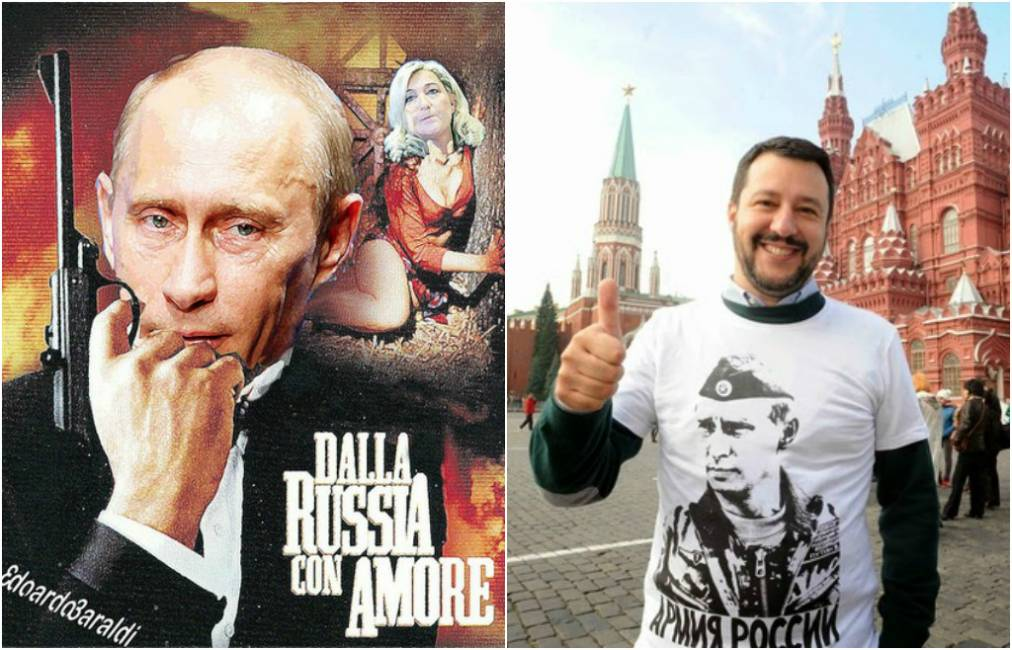 Salvini in Putin - italijanski mediji