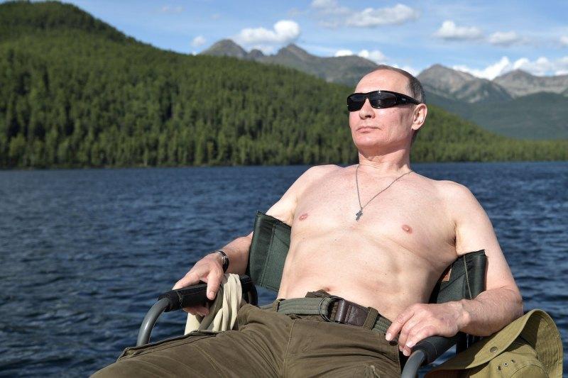 Putin počiva      Vir:AP